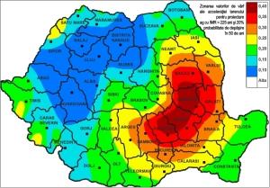 Harta de zonare acceleratii