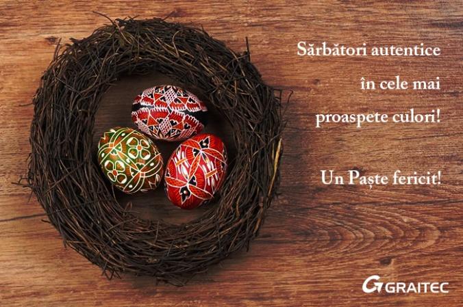GRAITEC vă urează Paște fericit!